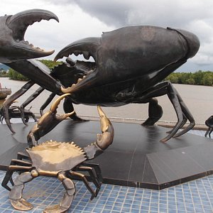 Crab sculptures