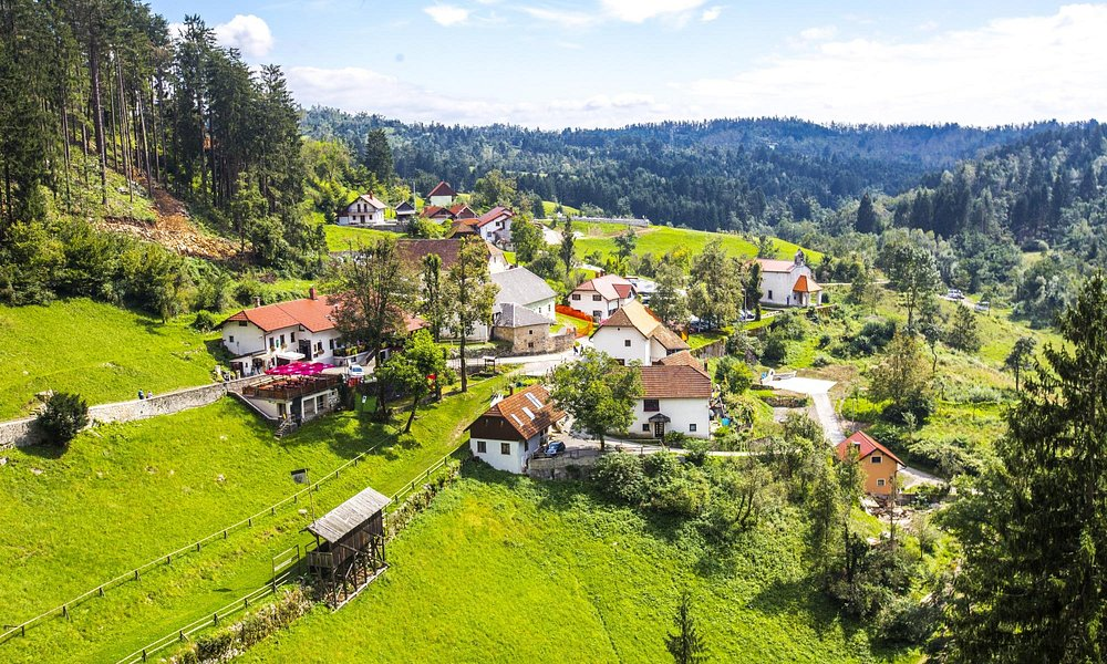 View to Predjama village