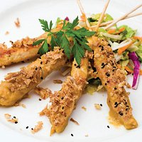 Sharing is caring! Chicken Satay Skewers