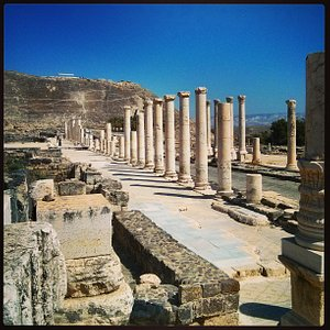 Archeological site of Beit Shean in Israe