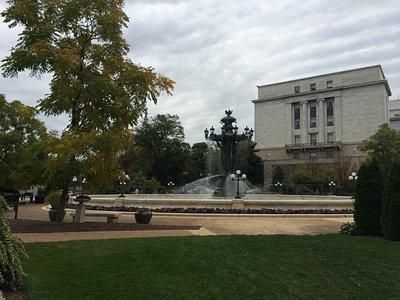 Bartholdi Park with Rayburn Office