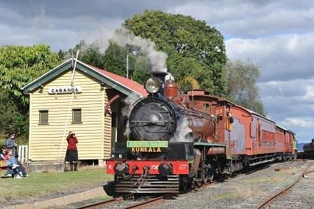Steam Train waiting at Cabanda station