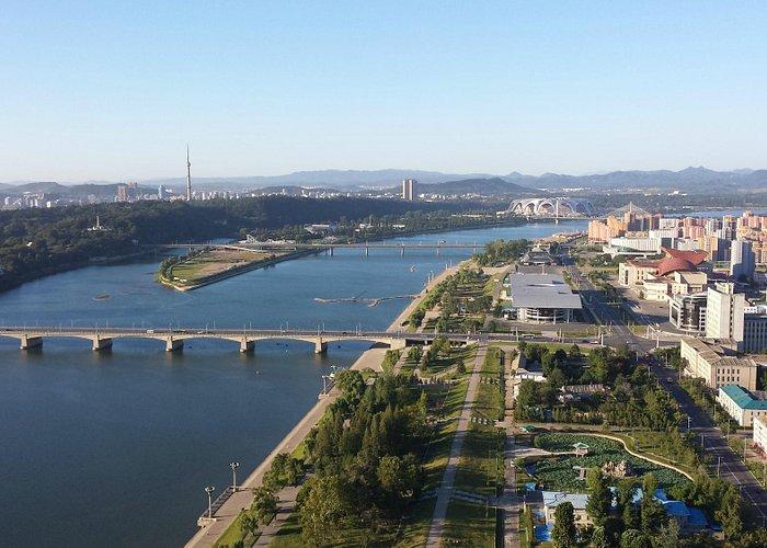Ausblick vom Turm der Juche Ideologie auf Pjöngjang
