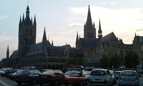 Town Hall and Church in Ypres