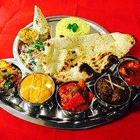 Punjabi tadka thali