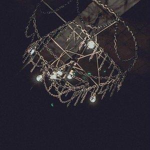 Люстра, как и наш театр, сделана своими руками