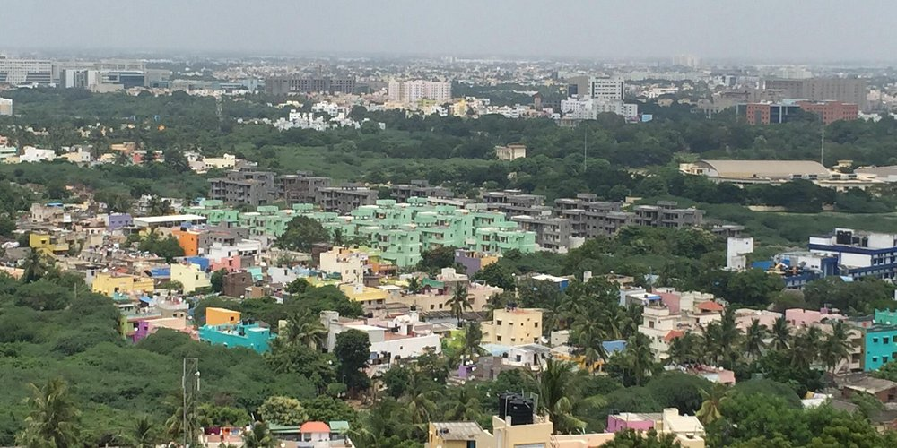 Chennai view from the Mount