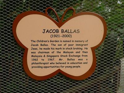 Plaque deicated to Mr Ballas