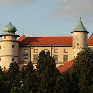château de Nowy Wiśnicz vu de la ville