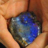 Beautiful Blue Undulating Boulder Opal Specimen