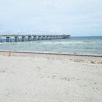 O pier de Dania Beach como visto do sul