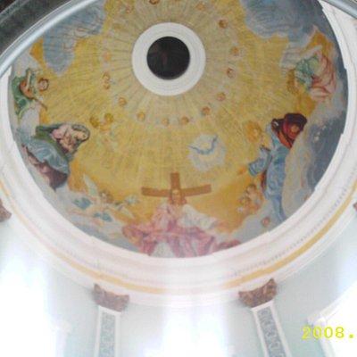 Bella pintura en que puedes apreciar en la Iglesia de San Rafael del Norte