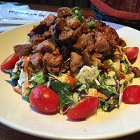 Chopped salad with tri tip