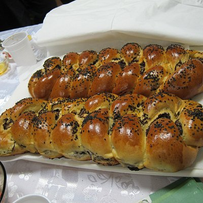 Home-baked challah