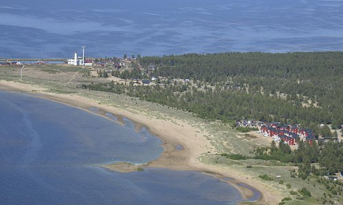 View to Arctic Light Hotel from the air