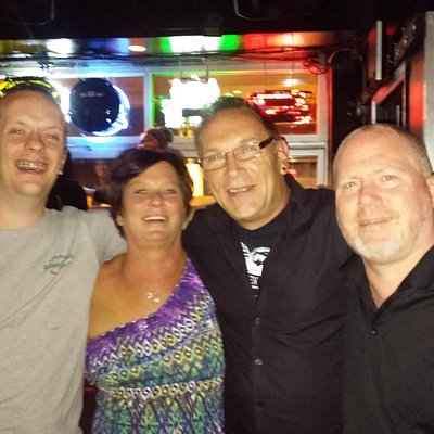 my wife, me kevin and crazy brian! lol a great time!