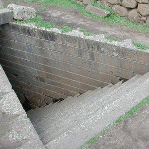 Parco Archeologico di Santa Cristina Paulilatino. Vano scala Pozzo Sacro..
