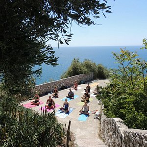 Yoga on the Chateau in Nice