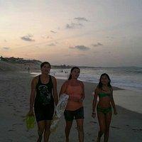Curtindo a praia.