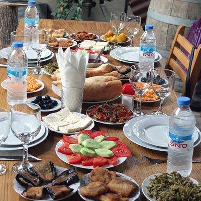 Lunch at Gurjaani Wine House