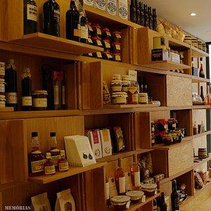 Interior da loja Memórias & Segredos