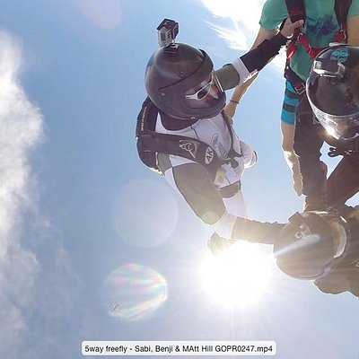 Exit at 13,500 feet over SkydiveMex