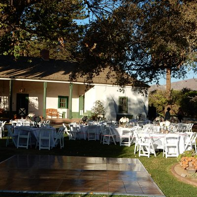 Rancho set up for a wedding