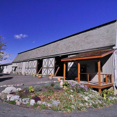 Taste in the beautiful slate barn.