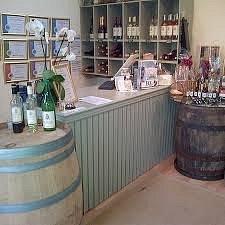 A peek inside the vineyard shop