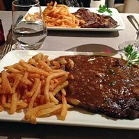 Steak Frites: Offered with Shallots in Wine Reduction