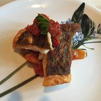 メインの魚:馬頭鯛のソテー