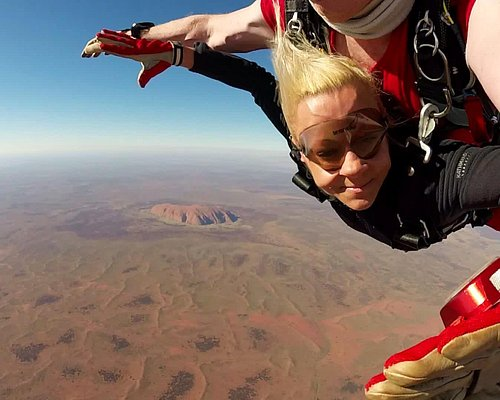 Uluru, Ayers Rock, Australia. Welcome to tandem skydiving!