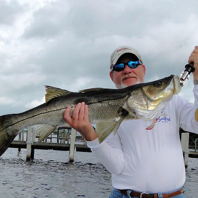 Capt John with a Giant Snook