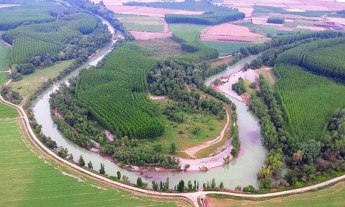 Ruta btt por el río Aragón Villafranca Navarra