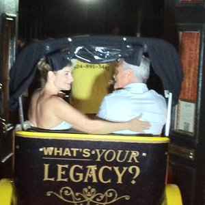 Leaving our wedding reception in style! Bike Taxi Unlimited