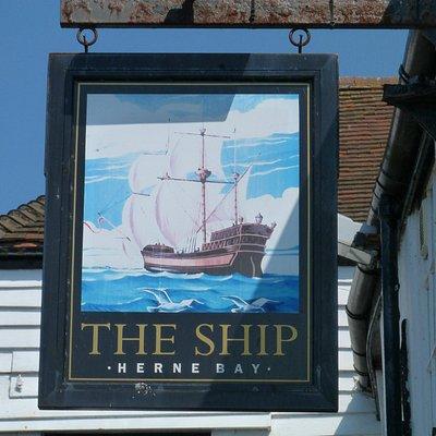 The Ship, Herne Bay - pub sign