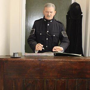 Policeman on display