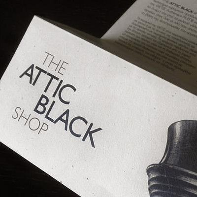 The Attic Black shop _leaflet