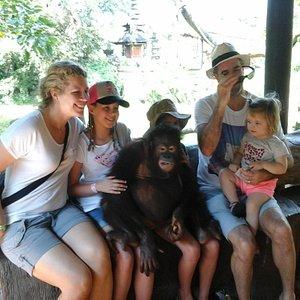 Photo with orang hutan