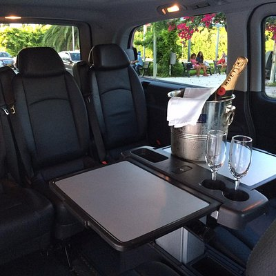 Caesars Limo Kefalonia  VIP Service with cold champagne (or other choice of welcome drink) on bo