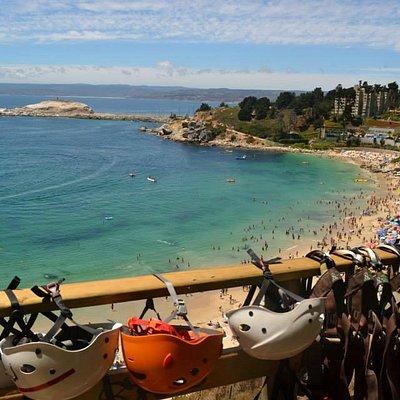 Panoramica de playa el Canelo-Canelillo desde Torre de Lanzamiento.!