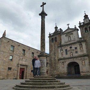 """The """"Adro da Sé"""" Square and the magnificent """"Sé Catedral de Viseu"""" in Northern Portugal"""