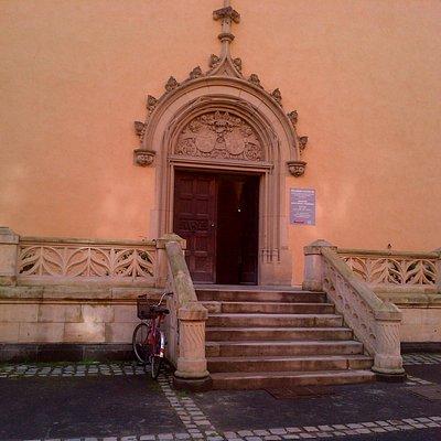 Podebrady Castle - entrance towards the museum