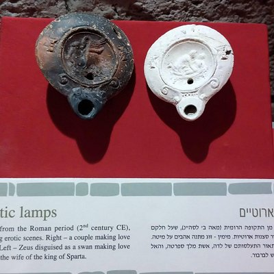 Erotic Roman oil lamps