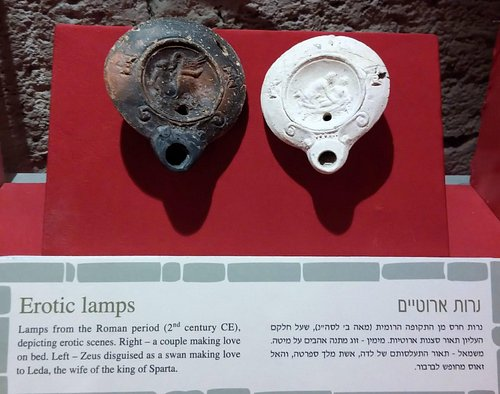Erotic Roman oil lamps