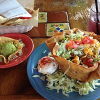 Taco Salad with homemade Guacamole