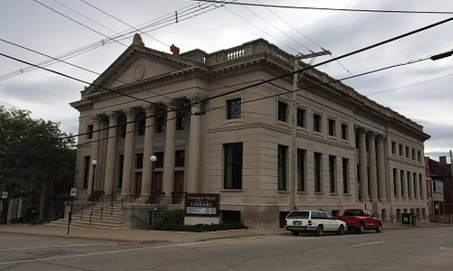 Original Carnegie-Stout Library building. Built in 1902.