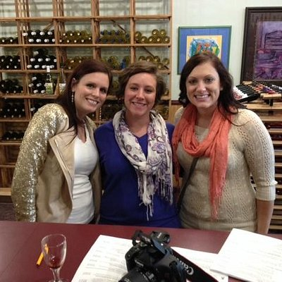 My friends and I at the wine tasting room
