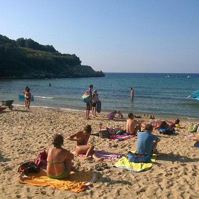 Lato sinistro della spiaggia