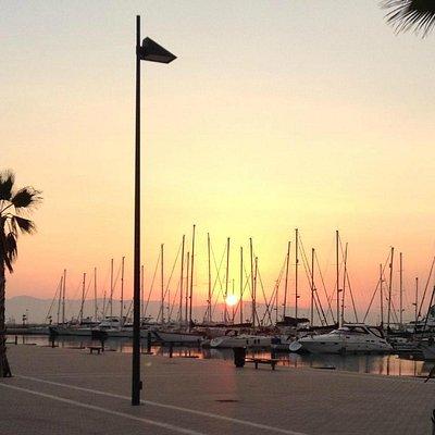 Sunset at Alcaidesa Marina